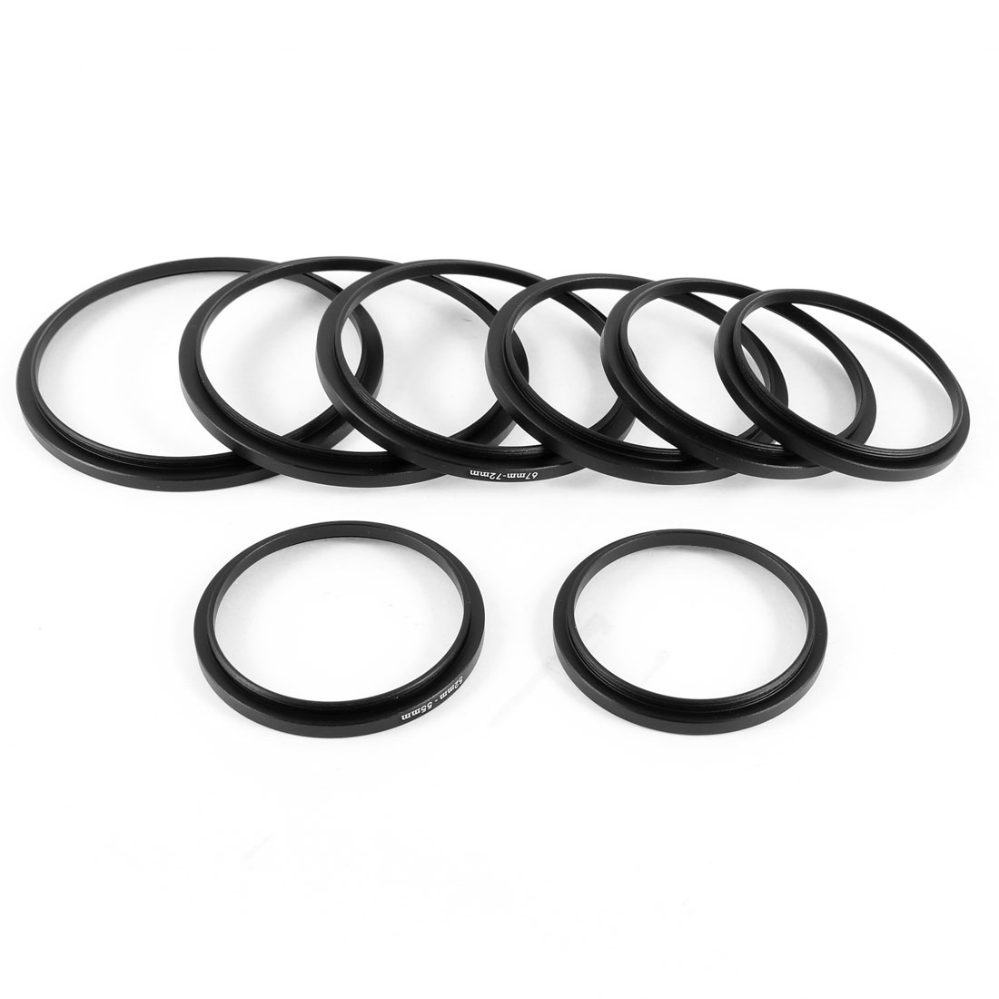 Unique Bargains 8 in 1 Camera Lens Filter Step Up Ring Adapter for Canon Olympus
