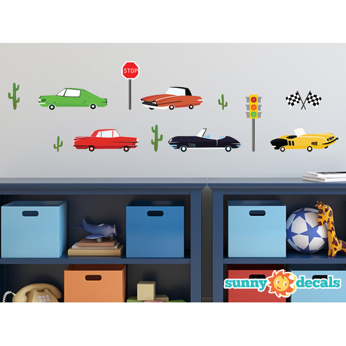 Sunny Decals Vintage Car Fabric Wall Decal