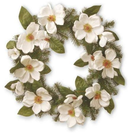 24 in. Cream Magnolia Wreath - image 1 de 1