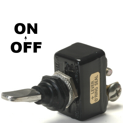 K-Four Sand Sealed Super Heavy Duty 50 Amp Off / On Toggle Switch With Screw Terminals