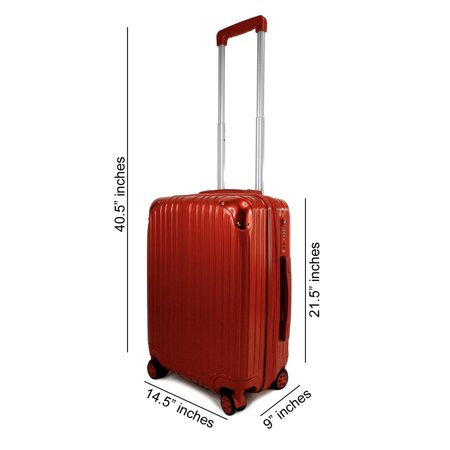 Hardside Carry-on Luggage Handcarry Spinner Expandable Hardsided Hand Carry Rolling Case Quality Travel Suitcase 21.5