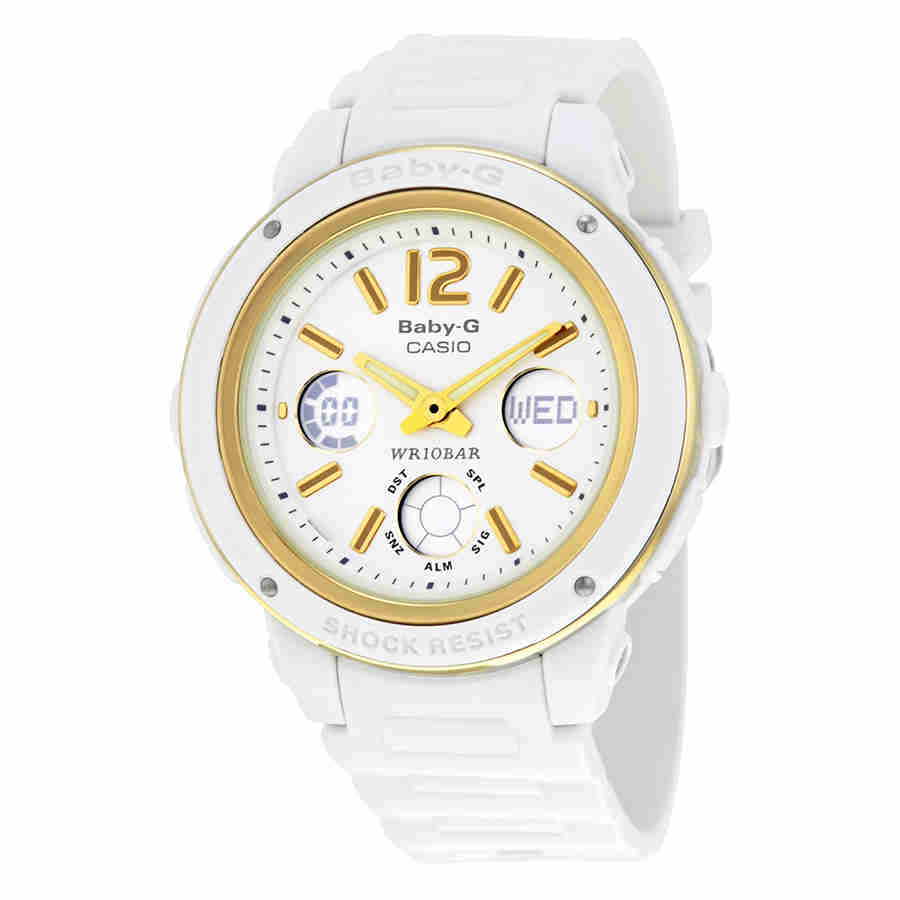 Casio Baby-G Analog-Digital Shock Resistant 100m White Re...
