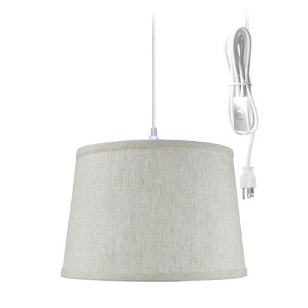 Home Concept Inc Swag 1 Light Drum - Edison One Light Pendant