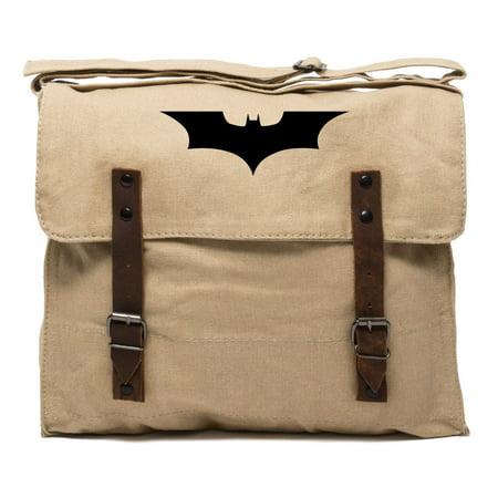 Mike The Knight Bag (The Dark Knight Batman Logo Vintage Style Army Medic Canvas Shoulder Bag)
