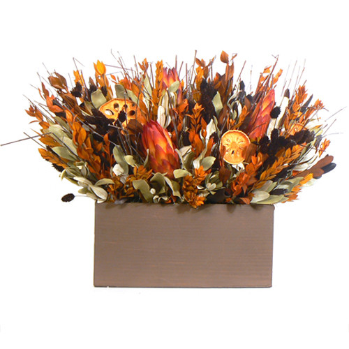 Urban Florals Sierra Sunset Table Top Basket Wreath