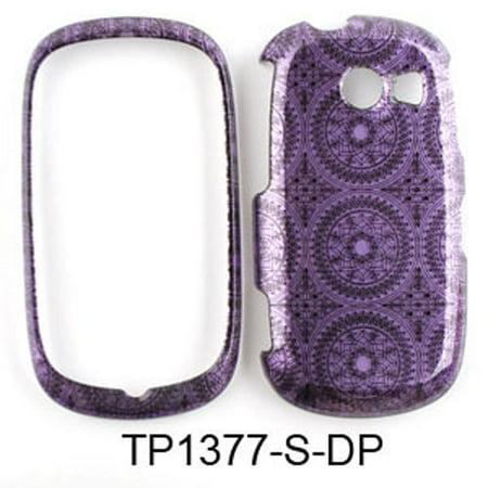 Unlimited Cellular Snap-On Case for Samsung Flight II A927 (Trans. Design, Dark Purple Circular Patterns)