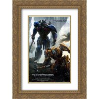 Transformers: The Last Knight 18x24 Double Matted Gold Ornate Framed Movie Poster Art Print