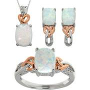 Created Opal & Diamond Accent 3 Piece Je