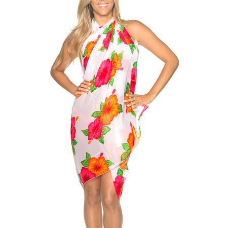 HAPPY BAY Sheer Chiffon Wrap Floral Pareo Swimsuit Women  Sarong Printed Floral Print Pareo