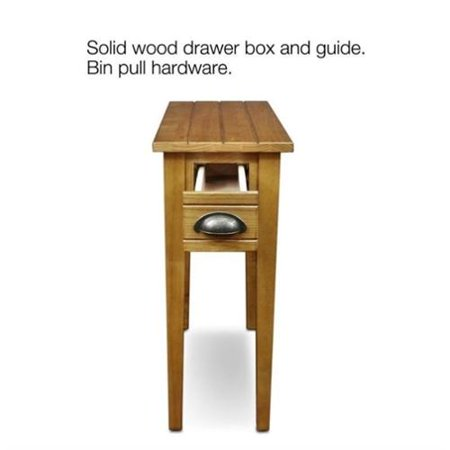 Leick furniture bin pull narrow end table in candleglow for 10 inch wide side table