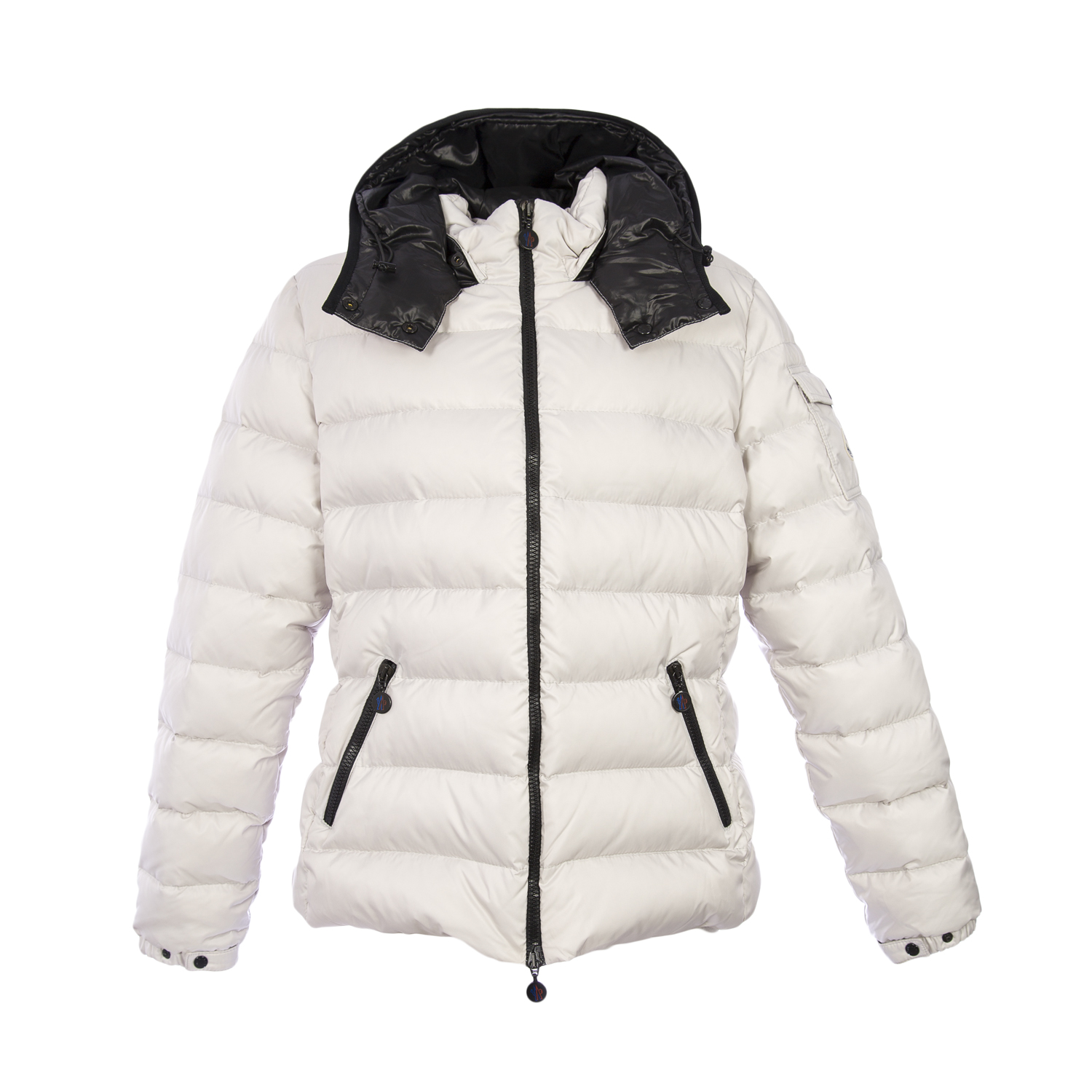 Moncler Women's Bady Down Hooded Puffer Coat, 5/X-Large, St. Gray
