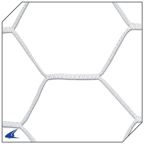 CHAMPRO 4.0 mm Braided Soccer Net Hexagonal Pattern White