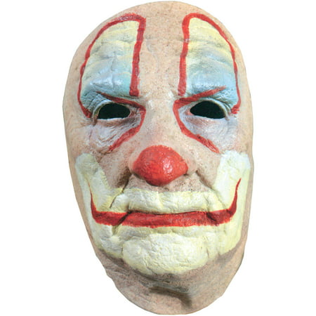 Old Clown Face Mask Adult Halloween Accessory (Paint Your Face Clown)