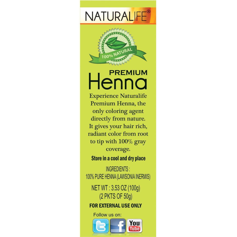 Naturalife Henna All Natural Hair Color for Men & Women - Walmart.com
