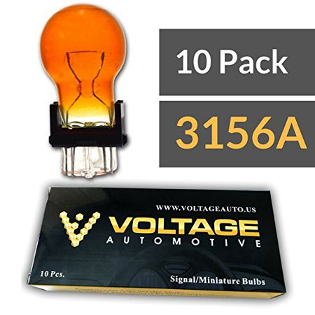 (10 Pack) 3156A 3156NA 3156 Amber Bulb For Automotive Tail Light Brake Light Turn Signal Side Marker Light - Voltage Automotive - Standard (Red Marker Turn Signal Bulbs)