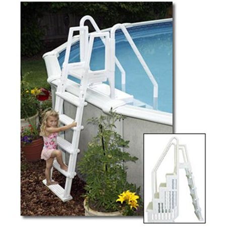 BlueWave Products STEPS, LADDERS & FENCING NE126 Easy Pool Step W/Outside Ladder