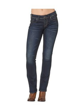 Silver Jeans Denim Womens Suki Slim Bootcut Dark Wash L93616SSX405