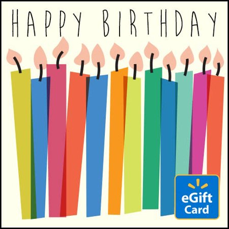 Happy Birthday Candles Walmart EGift Card