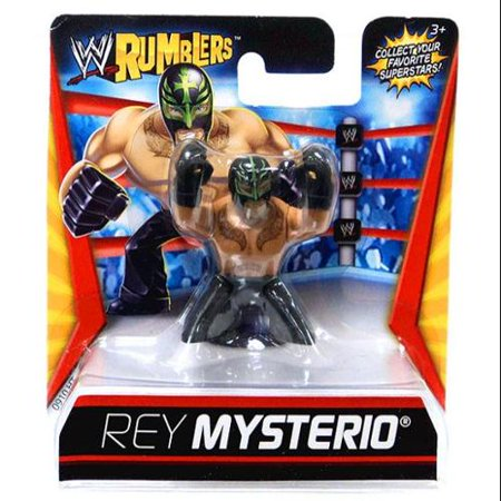 WWE Wrestling Rumblers Series 1 Rey Mysterio Mini Figure [Black - Wwe Outfits
