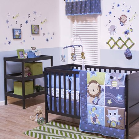 Jungle Jamboree 3 Piece Boy Crib Bedding Set Walmart Com