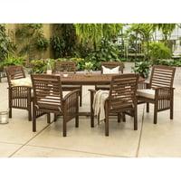 Manor Park 7-Piece Solid Wood Outdoor Patio Dining Set Deals