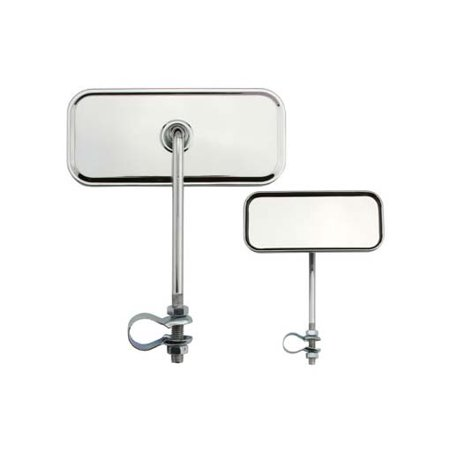 Rectangle Mirror All Chrome. Bike mirror, bicycle mirror for lowrider , beach cruiser, chopper, limo, stretch bike, bmx,