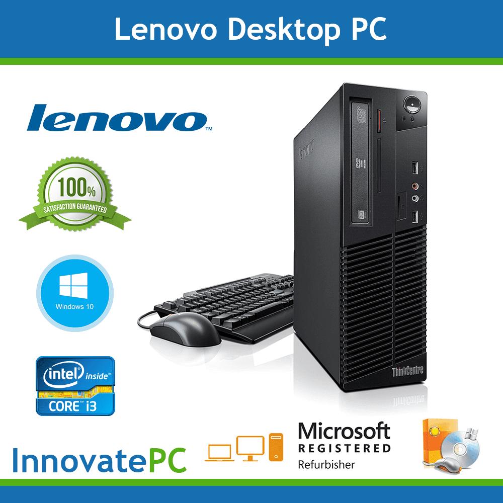 Refurbished SALE! Fast Lenovo Desktop Computer PC Core i3 4GB 250GB Windows 10 Pro