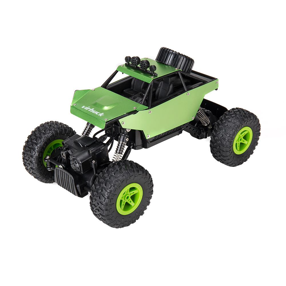 Virhuck RC Cars 1/18 Scale 4WD Rock Crawler with Metal Shell DIY Graffiti, 2.4GHz Off-road Vehicle Monster Truck Electric Rock Crawler Desert Buggy for Kids, Green