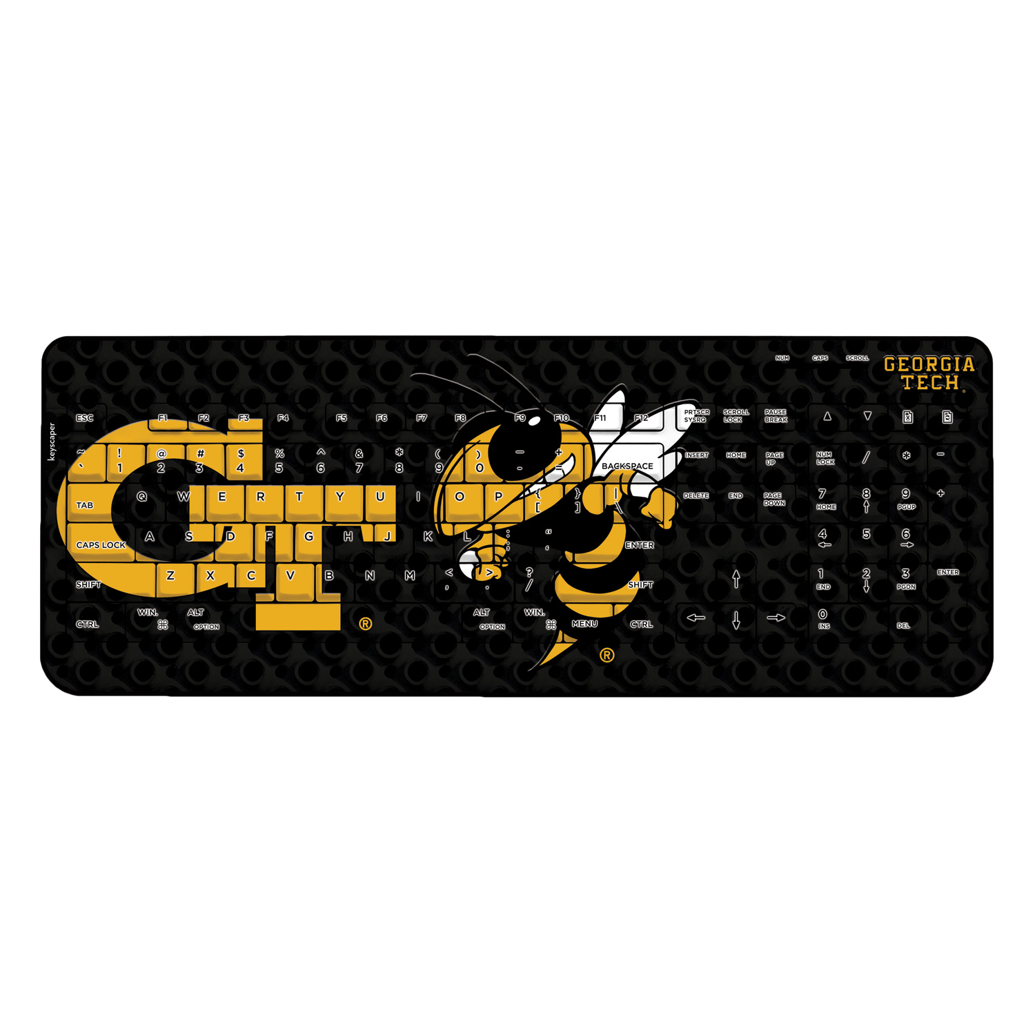 Georgia Tech Wireless USB Keyboard NCAA