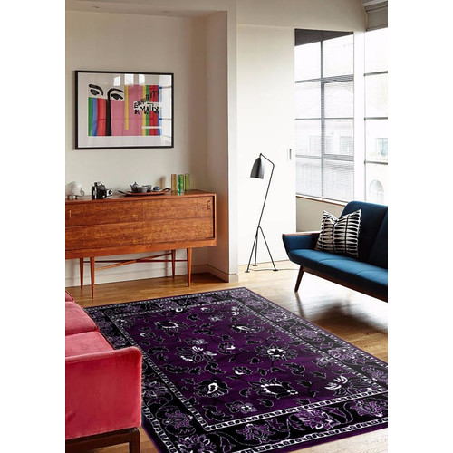 Persian Rugs 1005 Purple Floral Oriental Area Rug by Persian Rugs