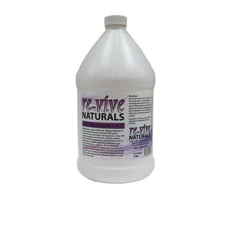 Re-vive Naturals Food Grade Quality Magnesium Chloride Flakes (5-Pound Jug)