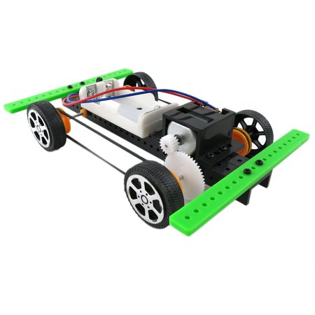 DIY Mini Battery Powered Car Model Kit Children Kids Educational Toy Gift