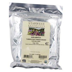 Starwest Botanicals - Bulk Turmeric Root Powder Organic - 1 lb.