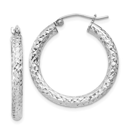 925 Sterling Silver 3x25mm Hoop Earrings Ear Hoops Set Fine Jewelry Gifts For Women For Her - image 6 de 6