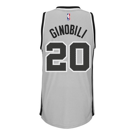San Antonio Spurs Adidas NBA Manu Ginobili #20 Alternate Swingman Jersey (Gray.) by