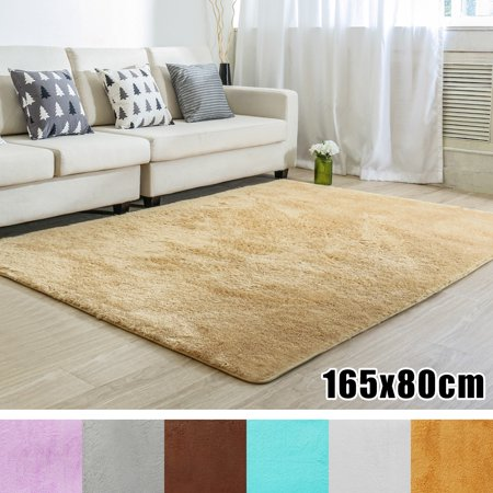 Soft Rectangle Floor Rug Carpet Chunky Plain Washable Gy Hearth Rugs Non Slip Dark Light Fireside Mat 6 Colors