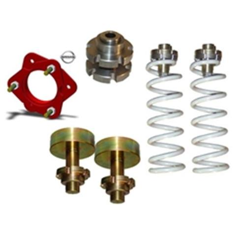 AirBagIt LEV-COI-BARE-4A Leveling Kits Billet Adjuster Pairs 3. 25 x 2. 25 inch