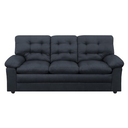 Mainstays Buchannan Sofa Black Microfiber