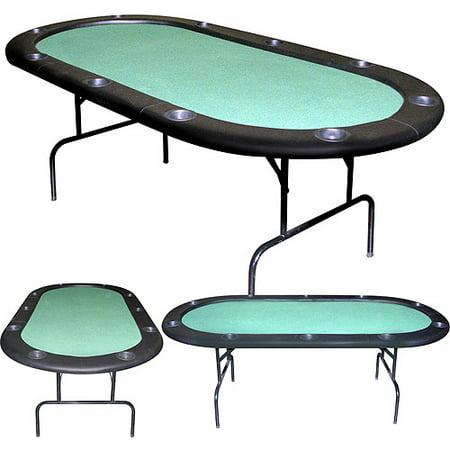 Trademark poker 84 texas holdem green felt poker table for Poker table 6 ou 9