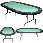"Trademark Poker 84"" Texas Holdem Green Felt Poker Table"