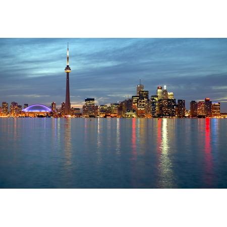 City Skyline At Dusk From Centre Island Toronto Ontario Poster Print (8 x 10) - Science Centre Toronto Halloween