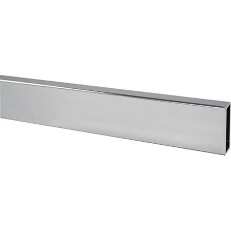8 ft. Rectangular Tubing, Satin Chrome