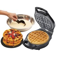 J-Jati Waffle Maker: The Mini Waffle Maker Machine Belgian Waffle Maker for Individual Waffles, Paninis, Hash browns, other on the go Breakfast, Lunch, or Snack White SW228-W