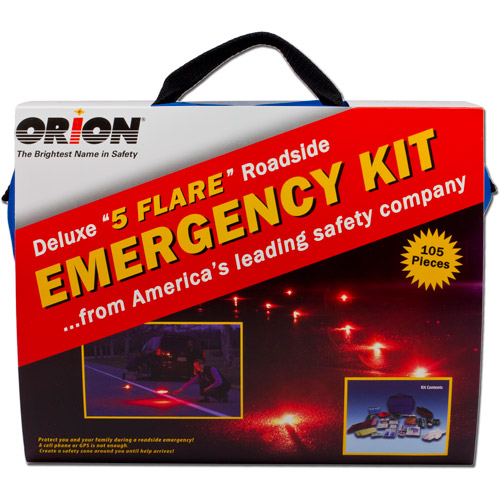 Orion Safety Products Deluxe 5-Flare Roadside Emergency Kit