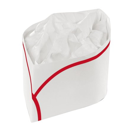 - Royal Red Disposable Striped Classy Cap, Package of 100
