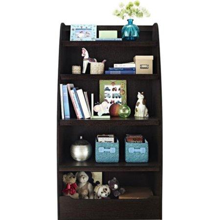 ameriwood home mia kids 4 shelf bookcase espresso. Black Bedroom Furniture Sets. Home Design Ideas