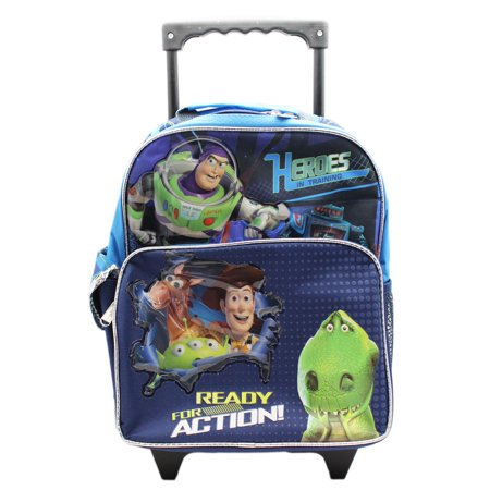 153f1d06132 Pixar - Disney  s Toy Story 3 Ready For Action Preschool Rolling Backpack  (12in) - Walmart.com