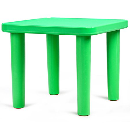 Kids Plastic Table and 4 Chairs Set Colorful Playroom School Home Furniture New - image 5 de 10