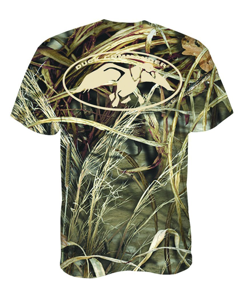 Duck Commander T-Shirt with Camo Logo, Small by Duck Commander