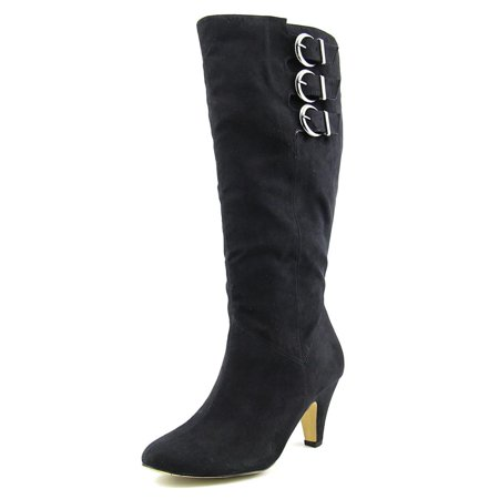 Bella Vita 50-4806 Women WW Round Toe Synthetic Black Knee High Boot